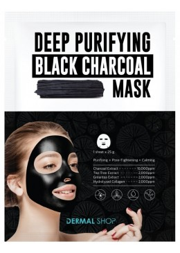 Deep Purifying Black Charcoal Mask - Dermal Korea