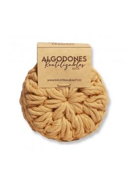 Algodones reutilizables 100% algodón orgánico: Beige - Industrial Beauty