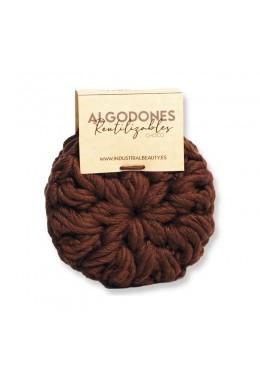 Algodones reutilizables 100% algodón orgánico: Choco - Industrial Beauty