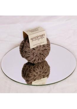 Algodones reutilizables 100% algodón orgánico: Gris - Industrial Beauty