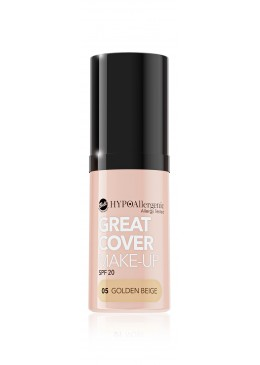 Base de maquillaje hipoalergénica Great Cover SPF20 Tono 05 Golden Beige - BELL HYPO