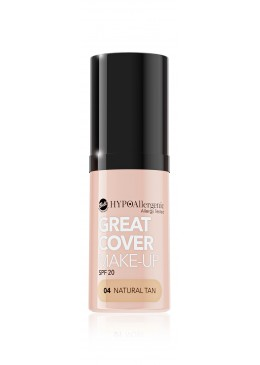 Base de maquillaje hipoalergénica Great Cover SPF20 Tono 04 Natural Tan - BELL HYPO