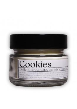 Vela aromática de soja: Cookies 120g - Industrial Beauty