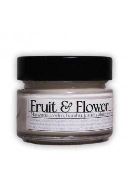 Vela aromática de soja: Fruit&Flowers 120g - Industrial Beauty