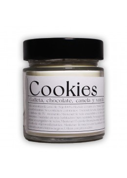 Vela aromática de soja: Cookies 200g - Industrial Beauty