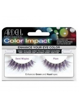 PESTAÑAS COLOR IMPACT DEMI WISPIES PLUM - ARDELL