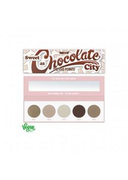 PALETA DE SOMBRAS FIVE POINTS MIYO 22 CHOCOLATE CITY