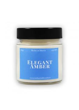 Vela aromática de soja: Elegant Amber 230g - Industrial Beauty