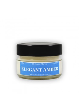 Vela aromática de soja: Elegant Amber 120g - Industrial Beauty
