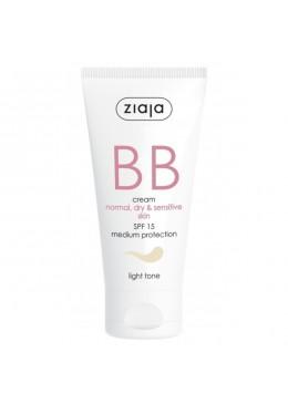 BB Cream Pieles Normales, Secas y Sensibles SPF15 Tono Claro - Ziaja