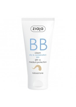 BB Cream Pieles Grasas y Mixtas SPF15 Tono Natural - Ziaja