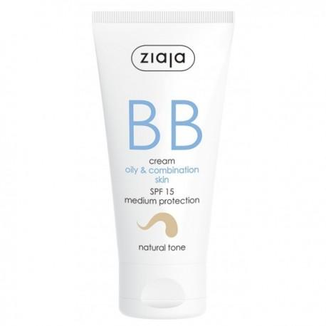 BB Cream Pieles Grasas y Mixtas SPF15 Tono Natural - Ziaja