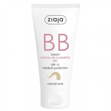 BB Cream Pieles Normales, Secas y Sensibles SPF15 Tono Natural - Ziaja