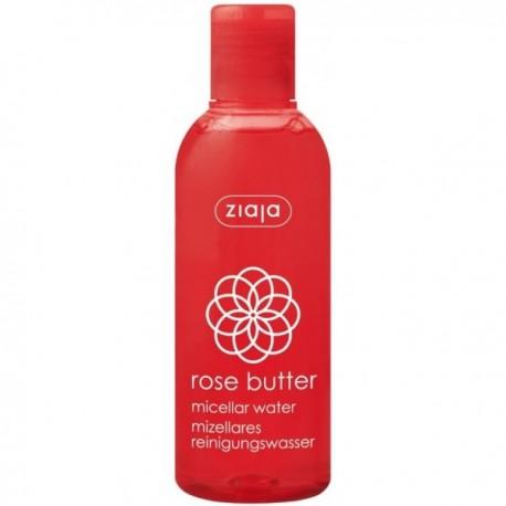 Solución micelar de agua de rosa