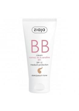 BB Cream pieles normales, secas y sensibles SPF15 Tono Oscuro - Ziaja