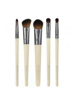 Bamboo 6Pc Eye Brush Set - Set de 5 brochas para ojos + neceserECOTOOLS