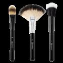 Blending Face Trio - 3 Piece Brush Set - BH Cosmetics