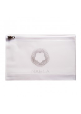 Makeup Bag - opal plastic with zipper 20,5 cm x 13,5 cm