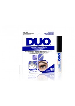 Pegamento de pestañas DUO Quick Set sin latex transparente 5gr