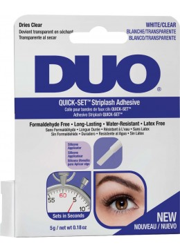 Pegamento de pestañas DUO Quick Set sin latex transparente 5gr