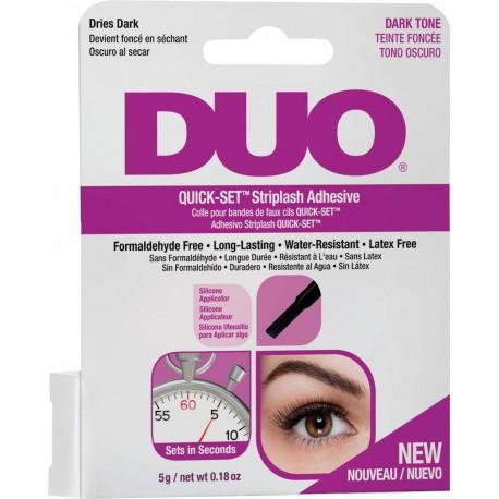 Pegamento de pestañas DUO Quick Set sin latex oscuro 5gr