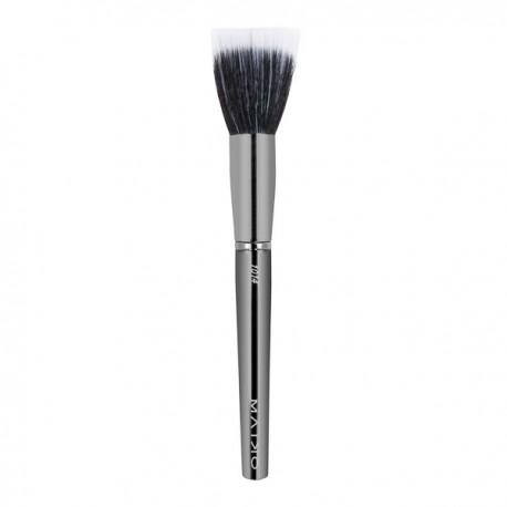 Luxury Grey 1014 Brocha DUO fibra para difuminar polvos - Maiko