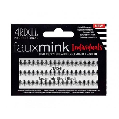 Faux Mink Black Short - Pestañas en grupo sin nudo - Ardell