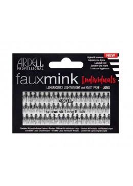 Faux Mink Black Long - Pestañas en grupo sin nudo - Ardell