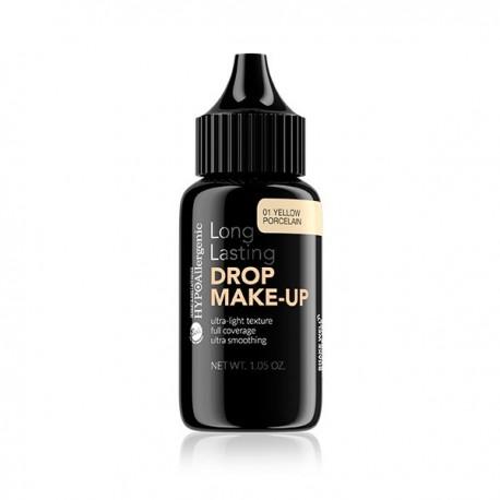 Base de maquillaje duradera hipoalergénica Drop Make Up: 01 Yellow Porcelain - Bell Hypo