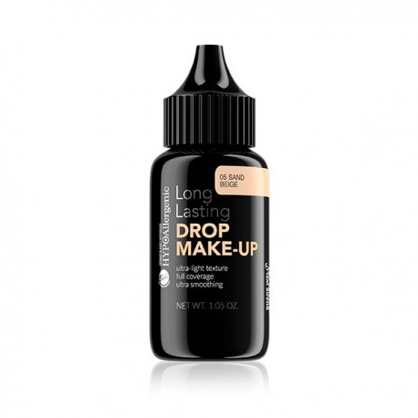 Base de maquillaje duradera hipoalergénica Drop Make Up: 05 Sand Beige - Bell Hypo