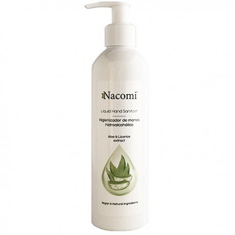 Gel líquido higienizador de manos hidroalcohólico 250ml con dosificador - NACOMI