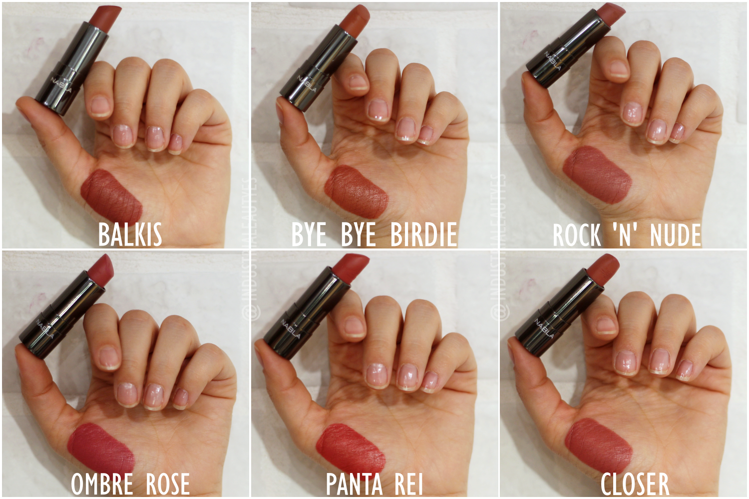 diva crime lipstick swatches I