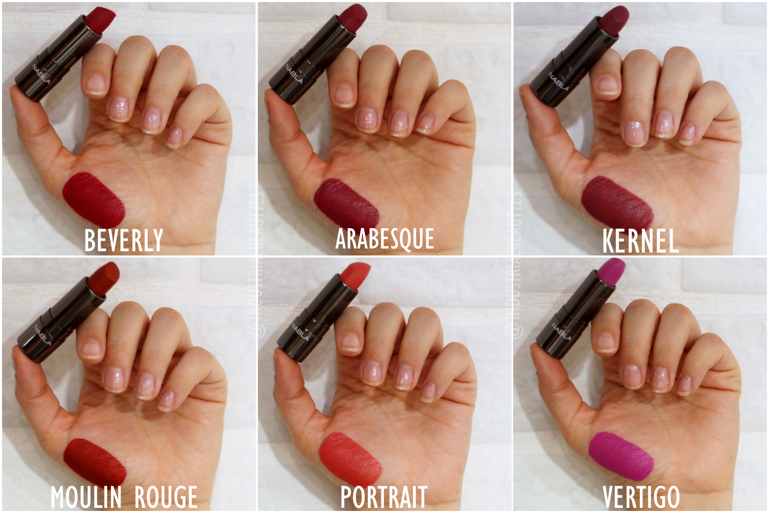 diva crime lipstick swatches II