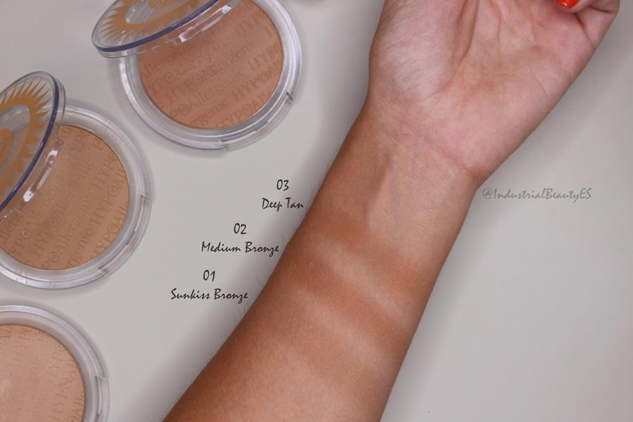 fresh bronze powder bell hypoallergenic swatches y tonos