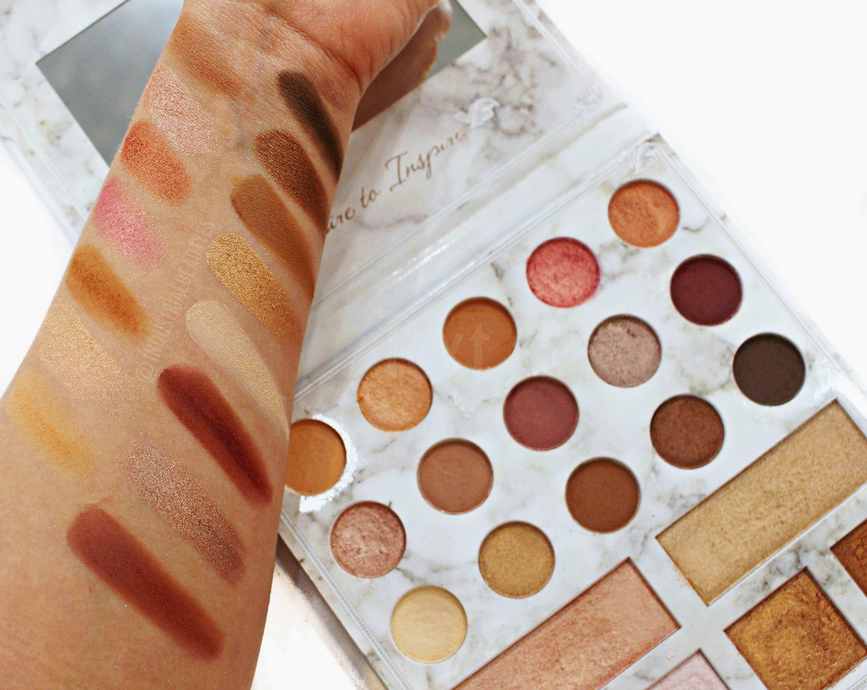 swatches paleta cali bybel bh cosmetics